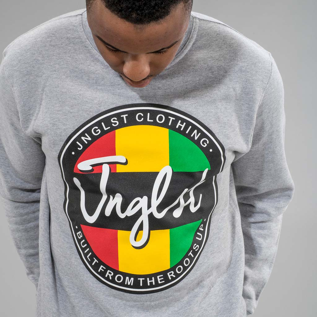 Grey Roots up Junglist Sweatshirt