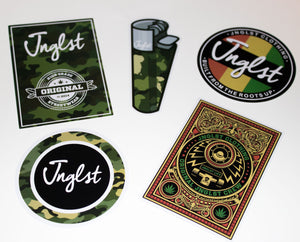 Sticker Pack of 5 Mixed Jnglst Stickers