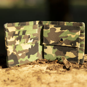 Inside of our Junglist Woodland Camo Wallet