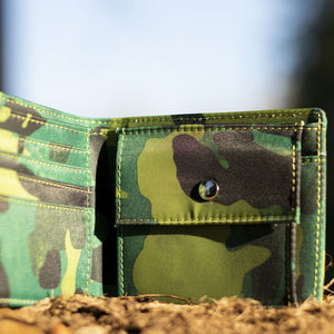 Green Camo Wallet for Drum and Bass heads