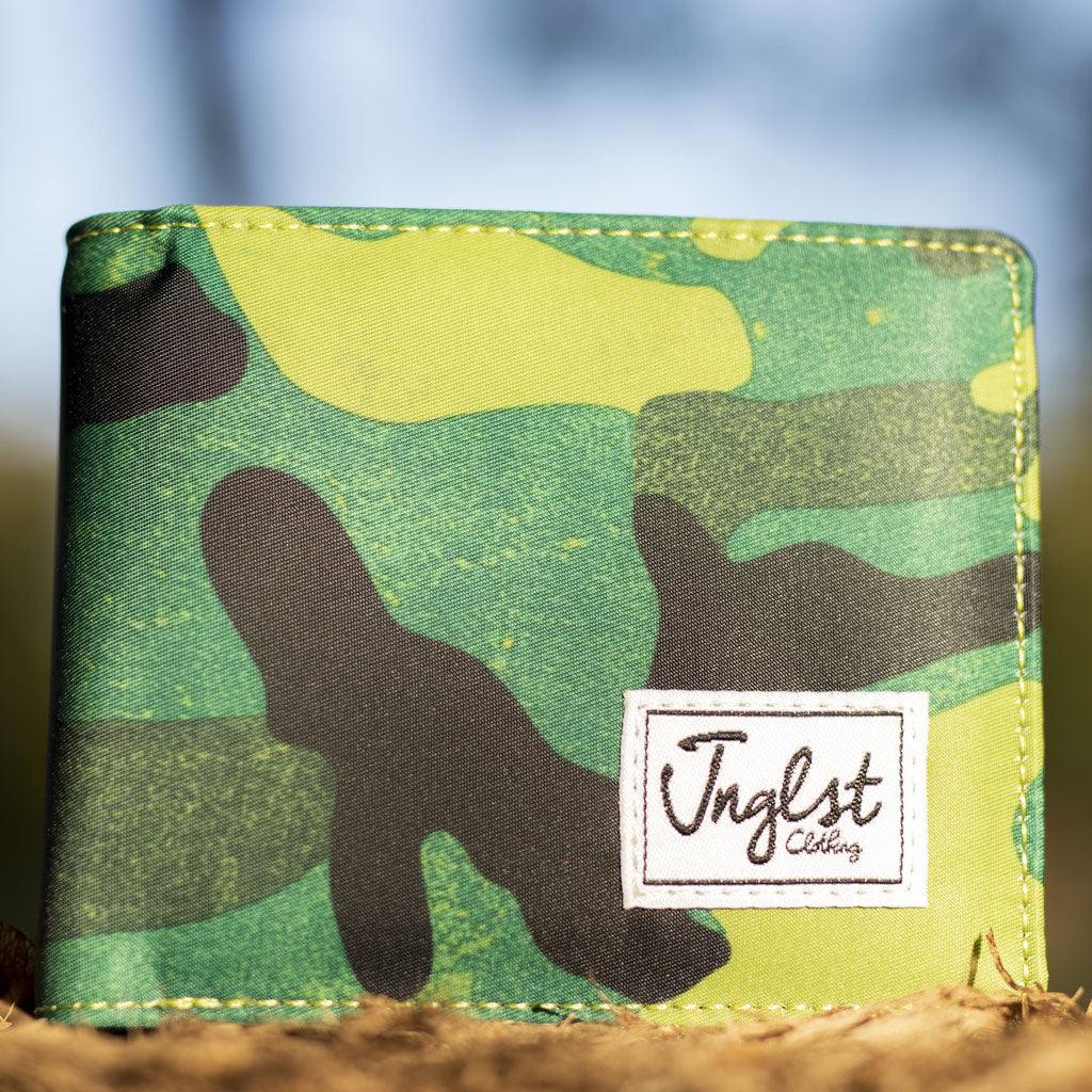 Green camo Junglist Drum and Bass Wallet