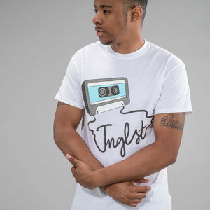 Jnglst Clothing's White Mixtape Tee