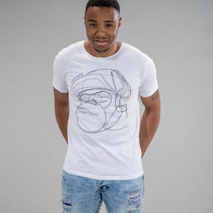 Mixape White T-Shirt on model