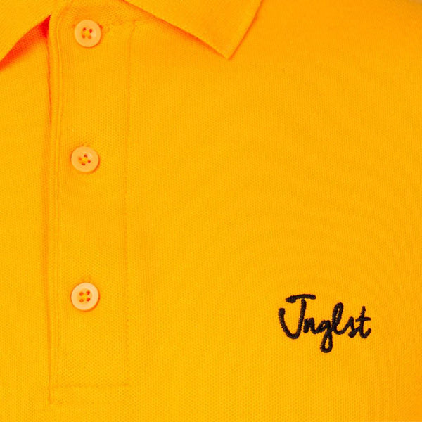 Yellow Polo Shirt Close up