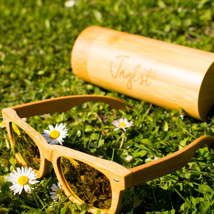 Orange Jnglst Rayban made from Eco Bamboo