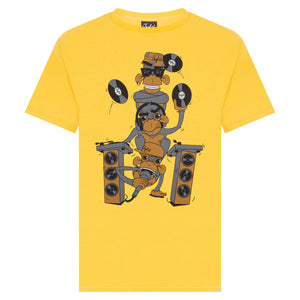 Yellow Wise Monkeys T-shirt