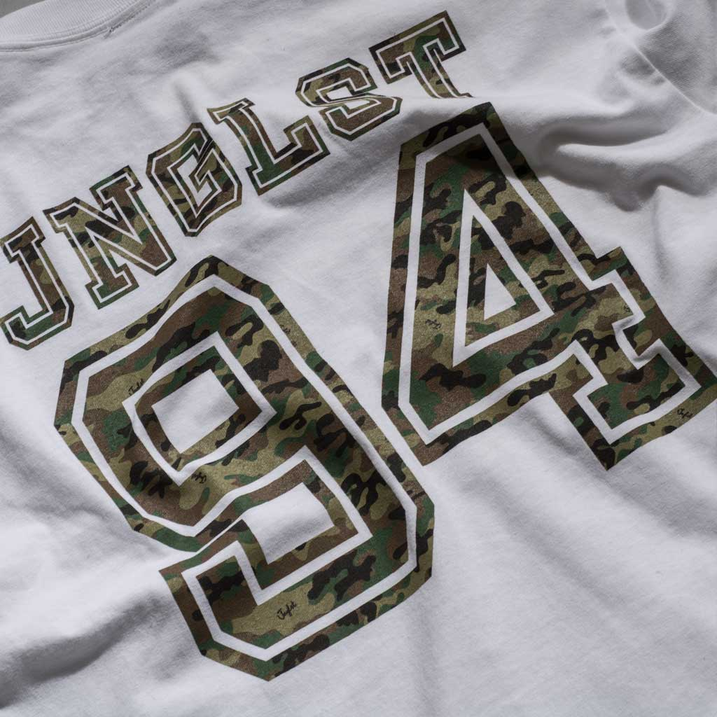 Long Sleeve Junglist 94 White T-Shirt