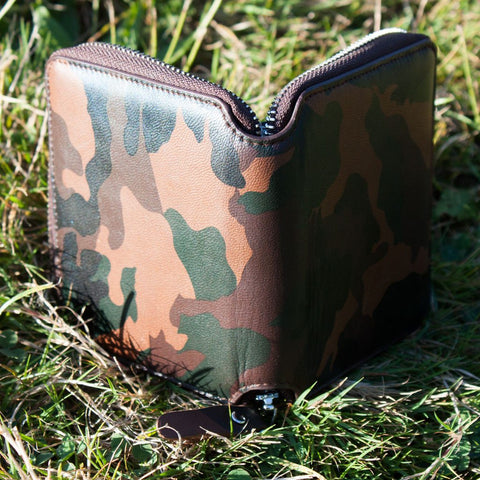 Camo Leather Wallet