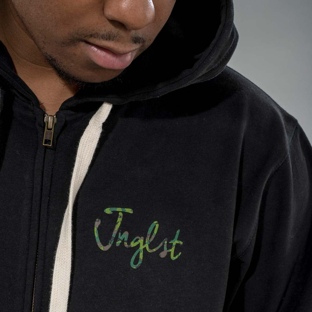 Camo Detail on our Junglist Clothing Hoodie