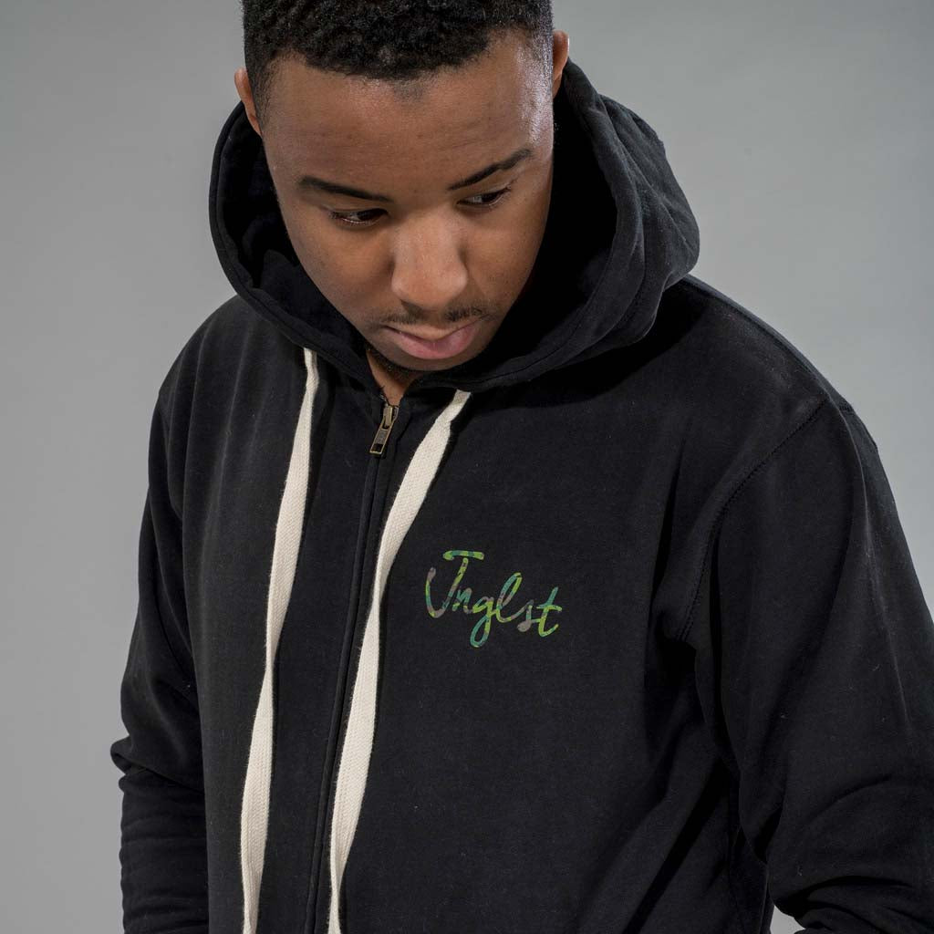 Junglist Hoodie with Camo Front Print