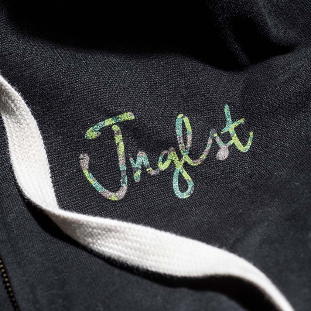 Camo Print Hoodie with Jnglst Logo