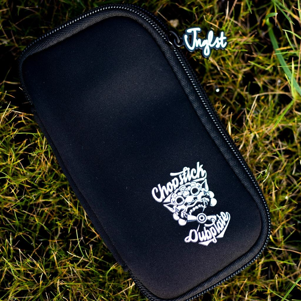 Black Chopstick Dubplate USB Pouch by Jnglst Clothing