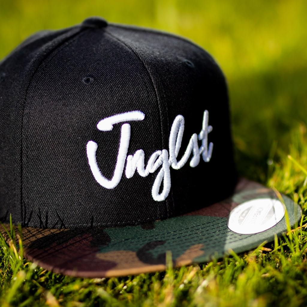 Junglist Snapback with Camo Visor from Jnglst Clothing