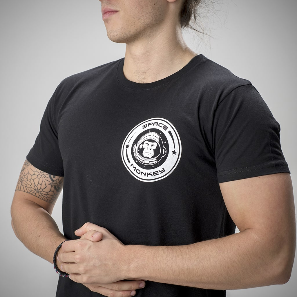 Space Monkey T-Shirt in Black