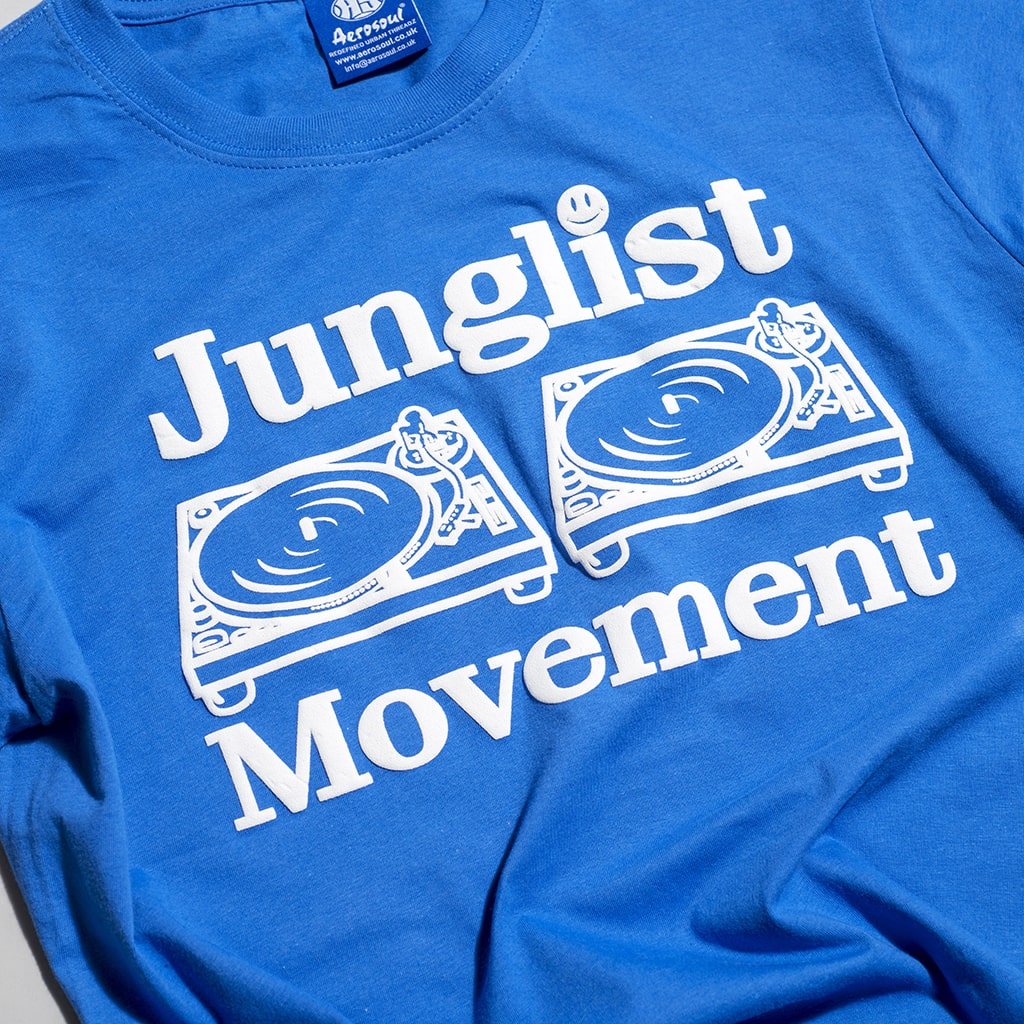 Original Junglist Movement T Shirt in Blue