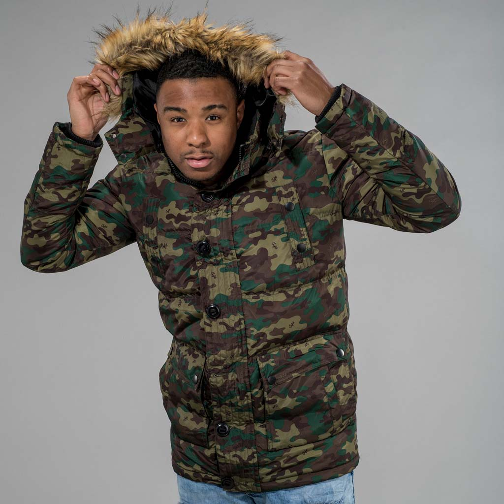 Camo Winter Parka from Jnglst Clothing
