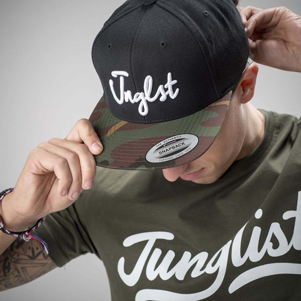Black and Camo Junglist Cap for Junglist Ravers