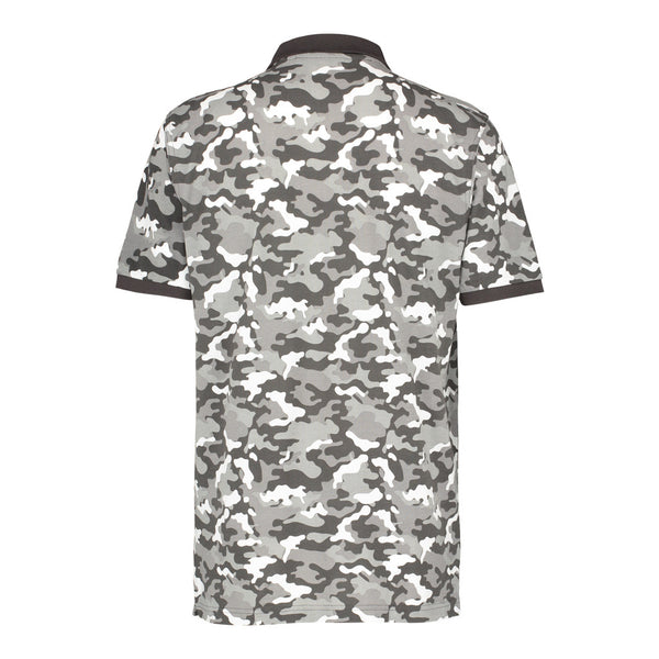Black and White Camo Polo Shirt