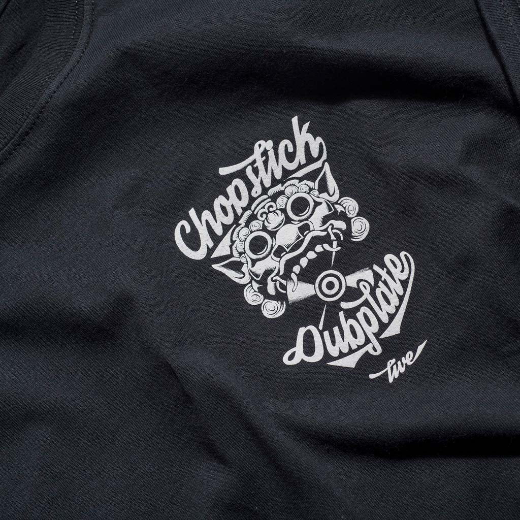 Chopstick Dubplate Logo on our Black Tee