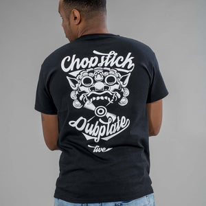 Chopstick Dubplate Black T Shirt from the back