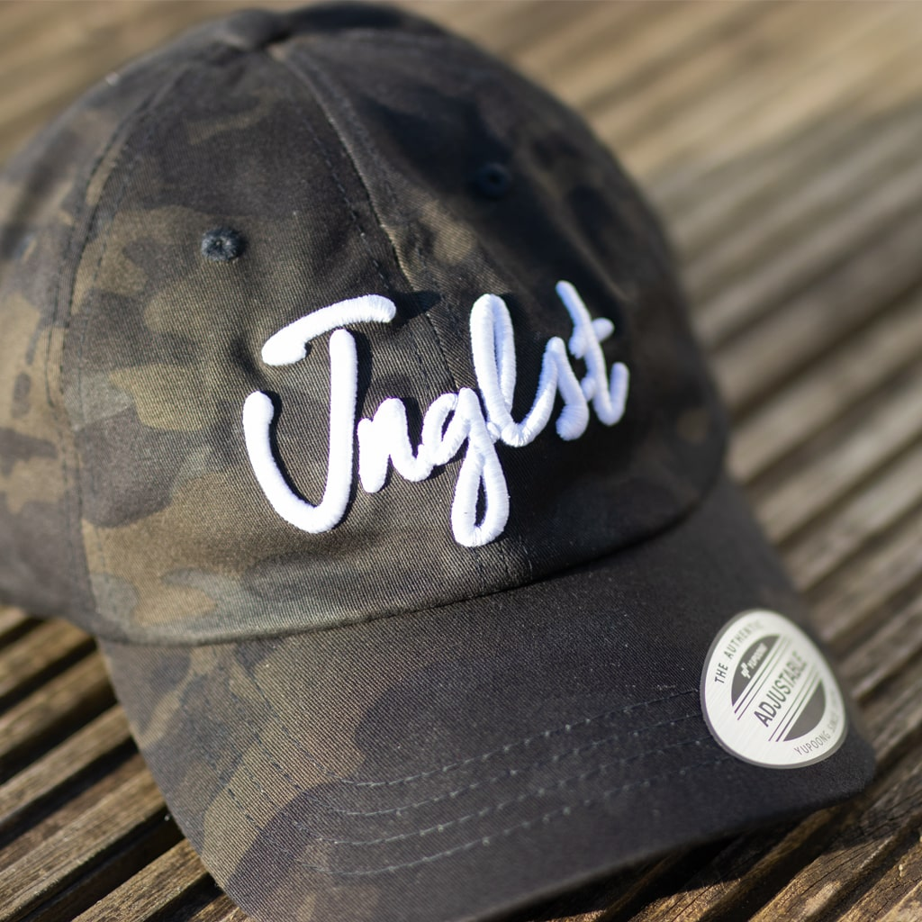 Dark Camo Junglist Curved Peak Cap from Jnglst Clothing