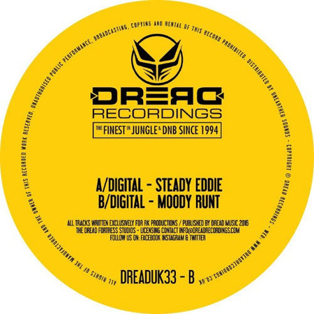 "Dread Limited Edition Jungle Breaks Sampler 2 * 12"" Vinyl"