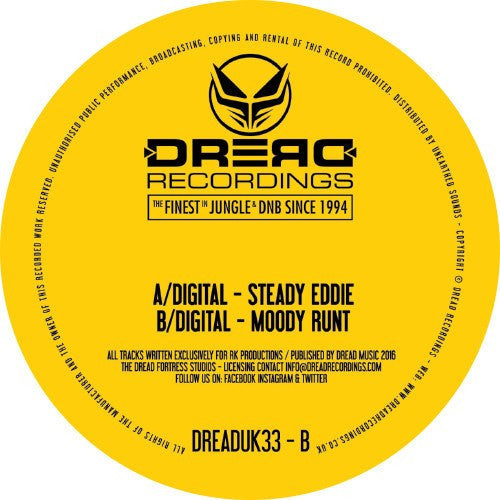 "Digital - Steady Eddie - 12"" vinyl"