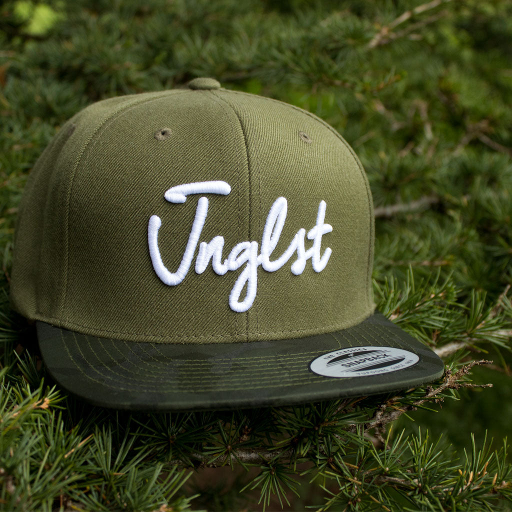 Jnglst Snapback in Olive from Junglist Network