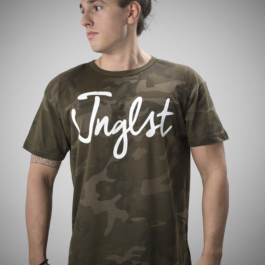 Junglist T-Shirt with Olive Green Camo