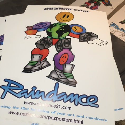 Collectable Raindance Pez artwork
