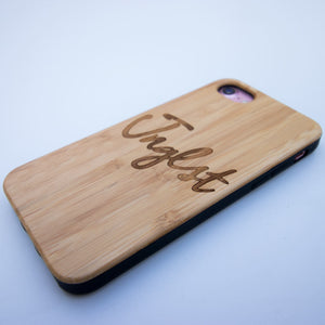 Bamboo engraved Junglist Phone Case