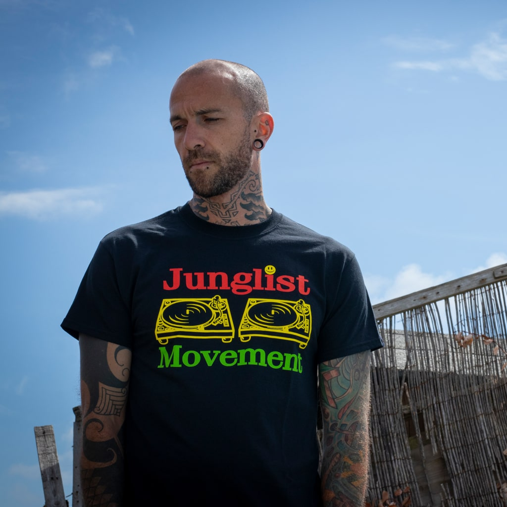 Jah Movement T-Shirt in Black
