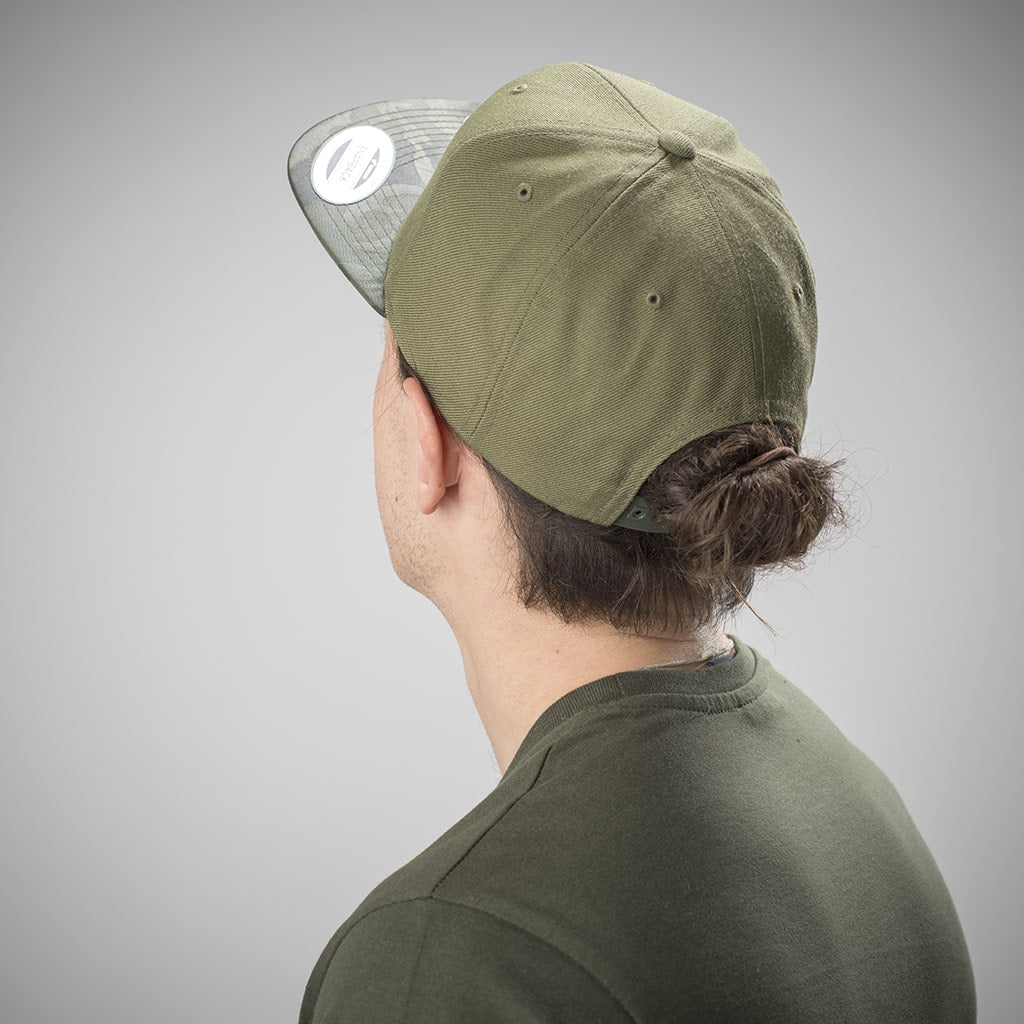Junglist Olive Green and Camo Snapback for Drum and Bass
