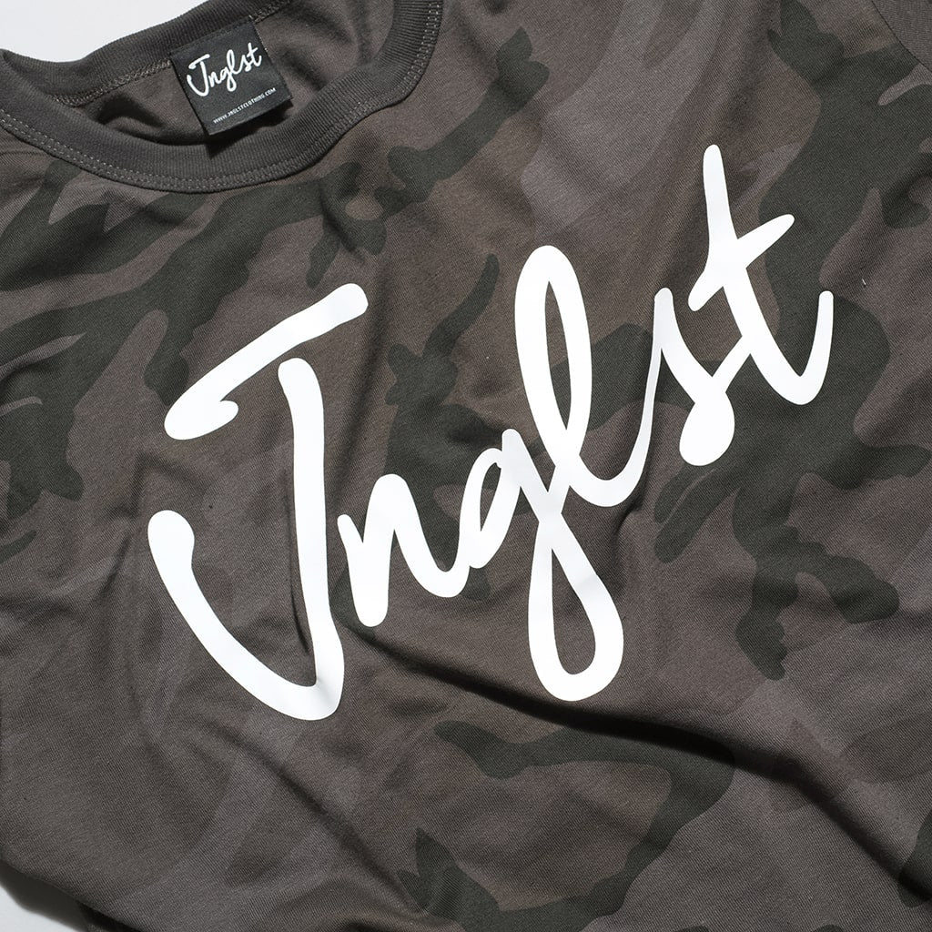 Camo T-Shirt with Junglist Print