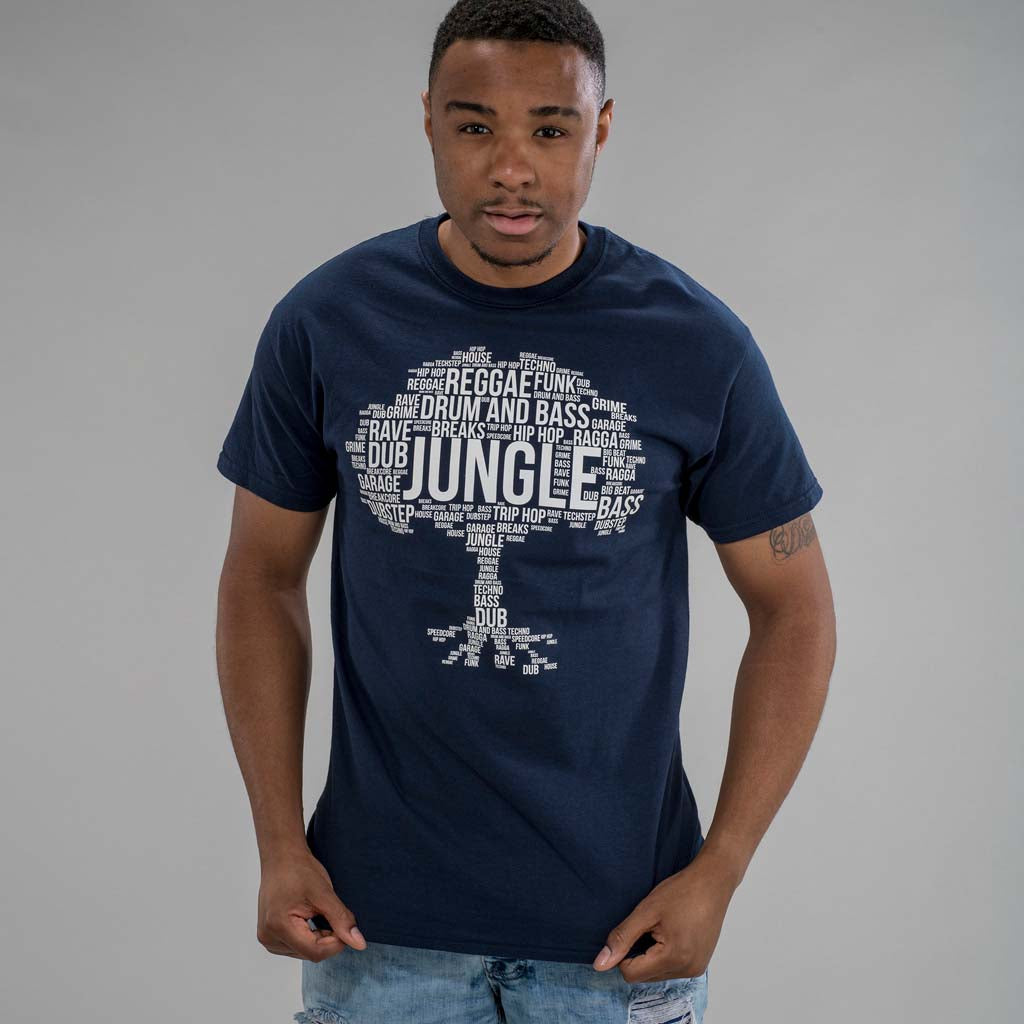 Navy Jungle Roots T Shirt