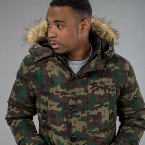 Junglist Network's Winter Parka with Camo Print