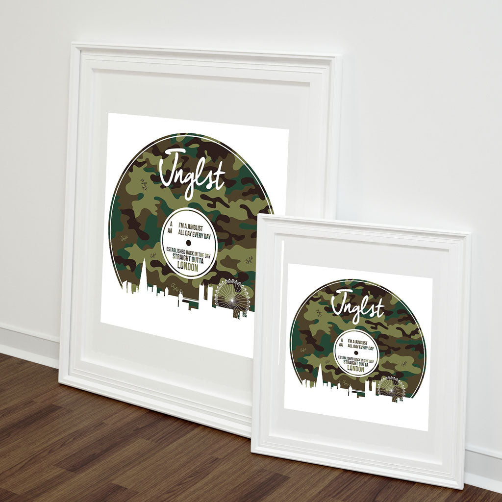 Jungle London Vinyl Art Print