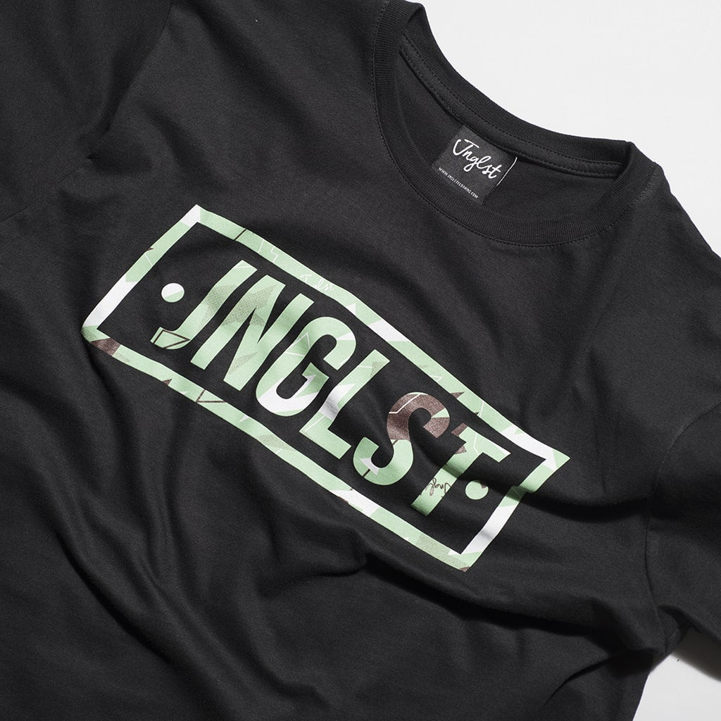 Junglist Black Box Camo T Shirt for Junglists