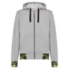 JNGLST Grey Zip Hoodie with back print