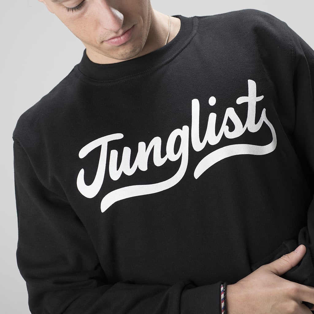 Junglist Black Sweatshirt from Jnglst Clothing