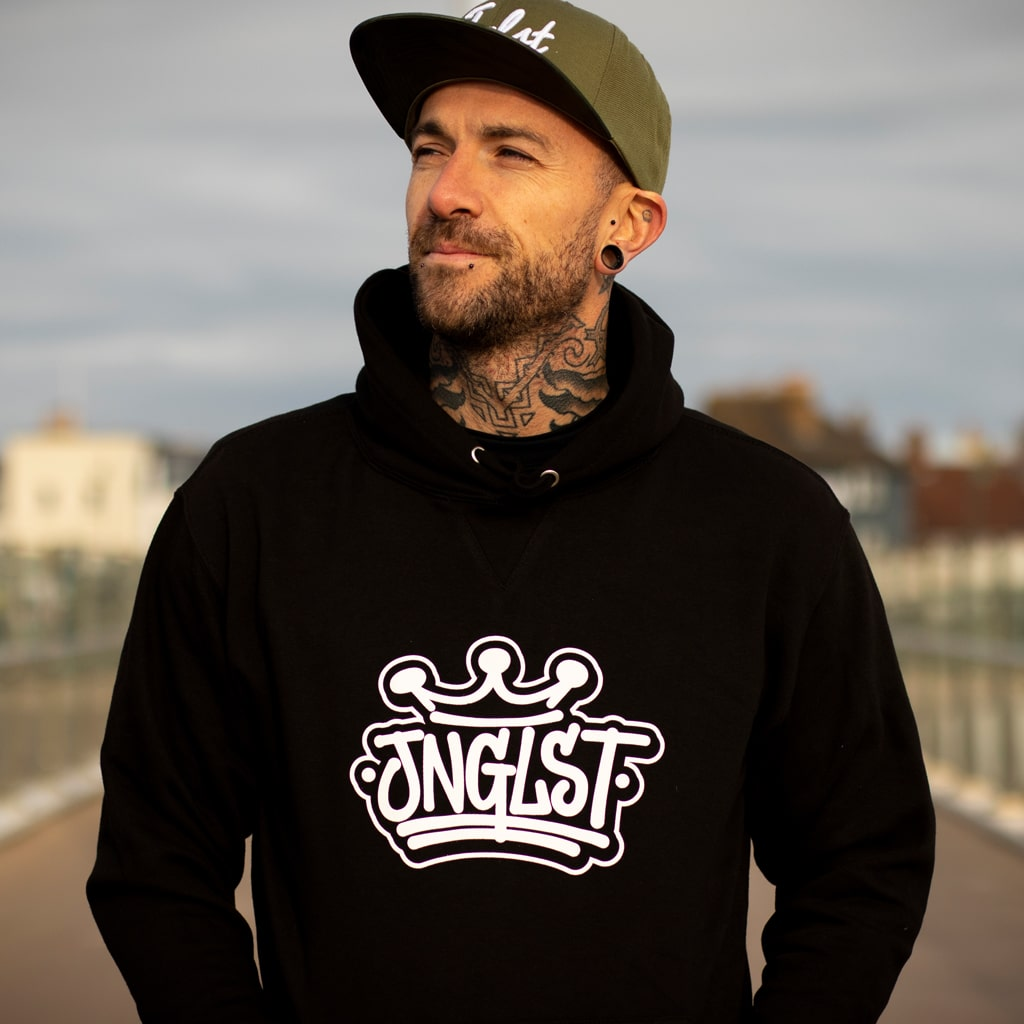 Junglist Old Skool Crown Black Hoody