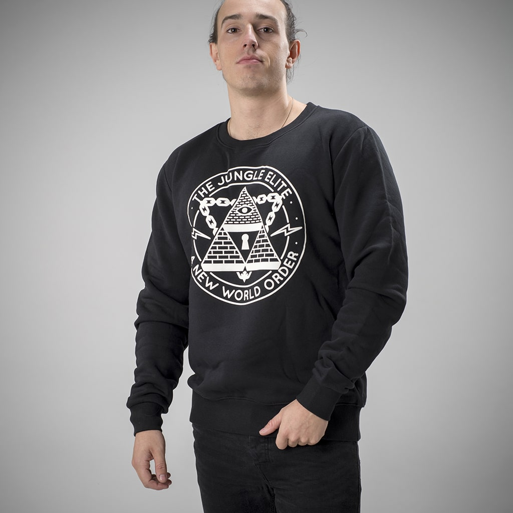 Black Jungle Elite Sweatshirt from Jnglst Clothing