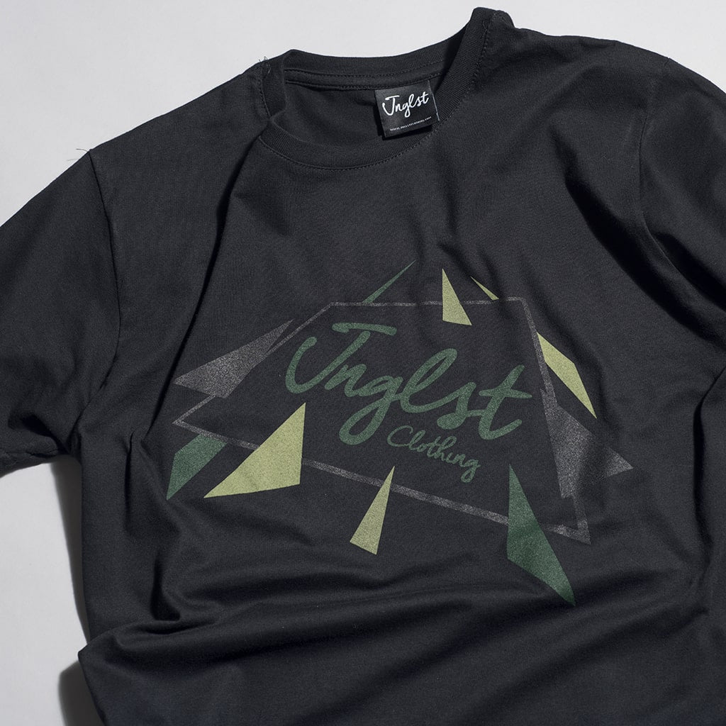 Close up of Junglist Black Meteor Tee