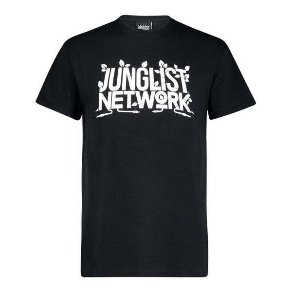 Junglist Network black and white t-shirt