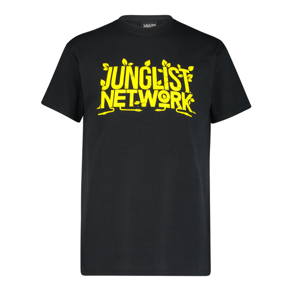 Black and Yellow Junglist Network T-Shirt