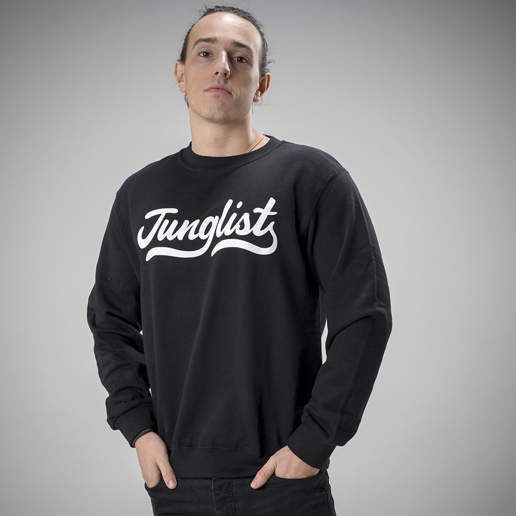 Screen Printed Sweatshirt for Junglists in Black