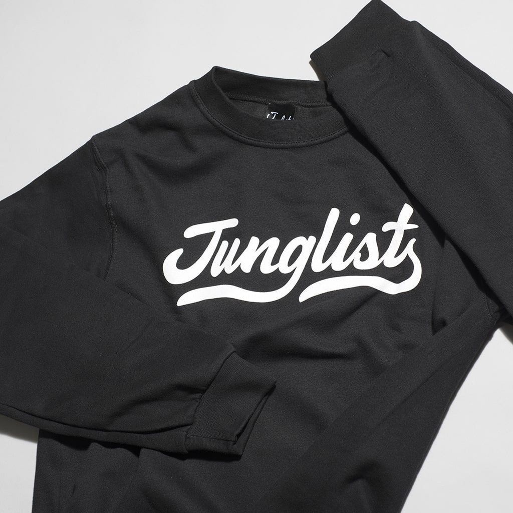 Junglist Design from Jnglst Clothing on a Black Sweatshirt
