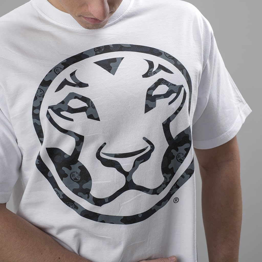Close Up of Yardrock Jnglst Clothing Collab Lion T Shirt