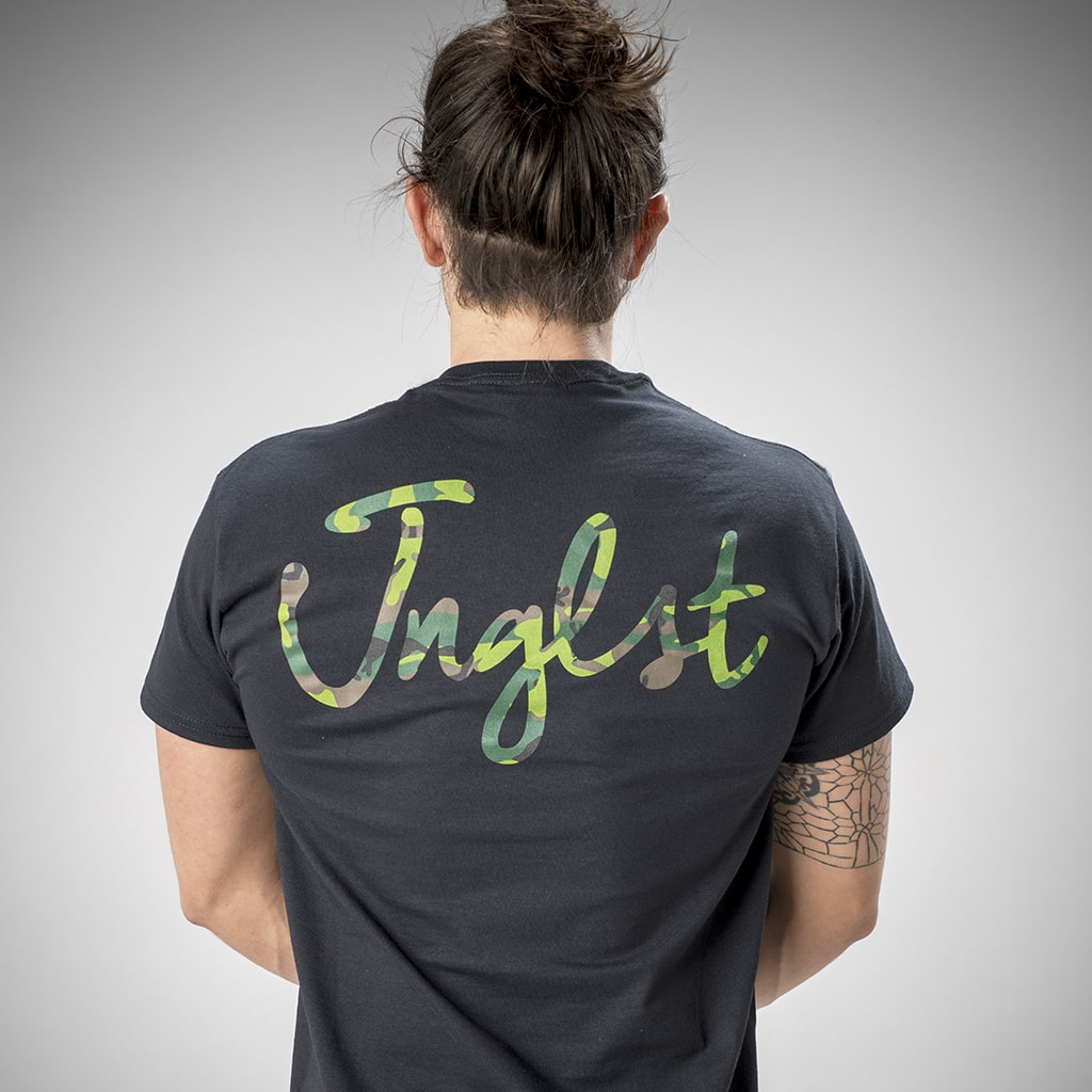 Black Junglist Script Front and Back T-Shirt