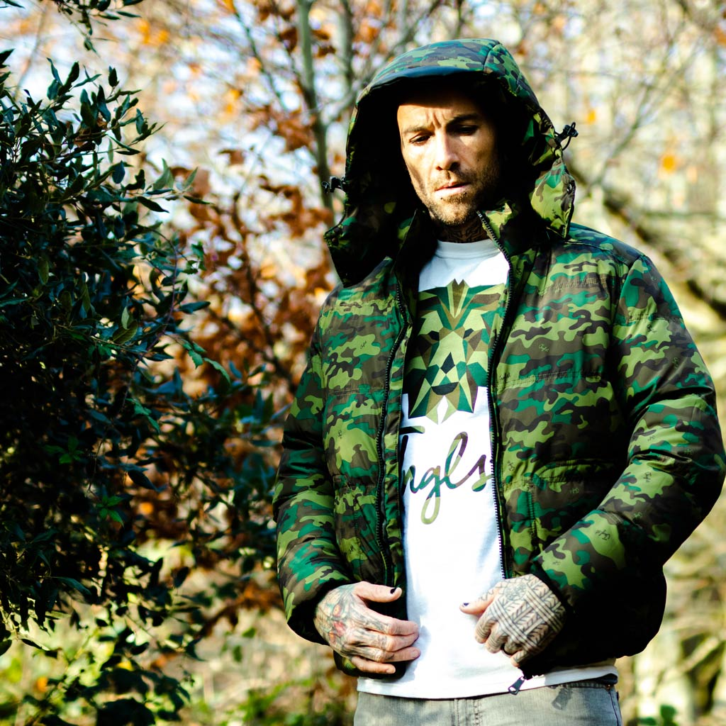 Camo Winter Jacket by Jnglst Clothing